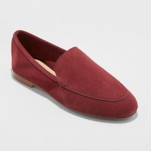 A New Day Burgundy Genuine Suede Loafers